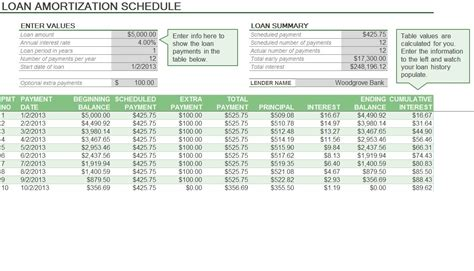 printable amortization schedule with dates planning excel templates planning templates