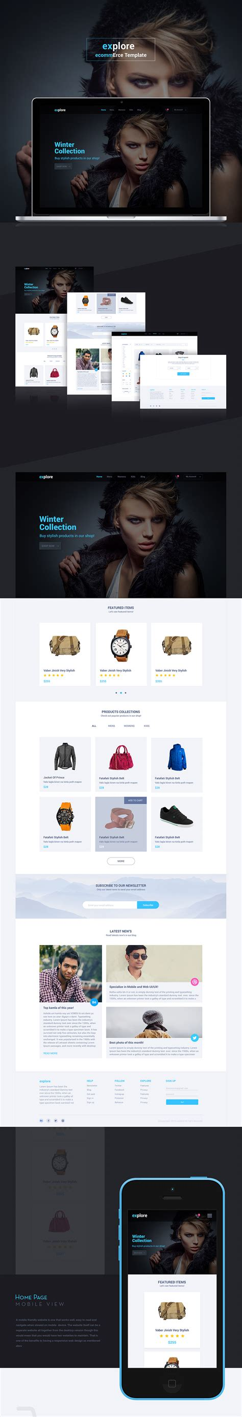 design free ecommerce website simple ecommerce website templates free psd set download