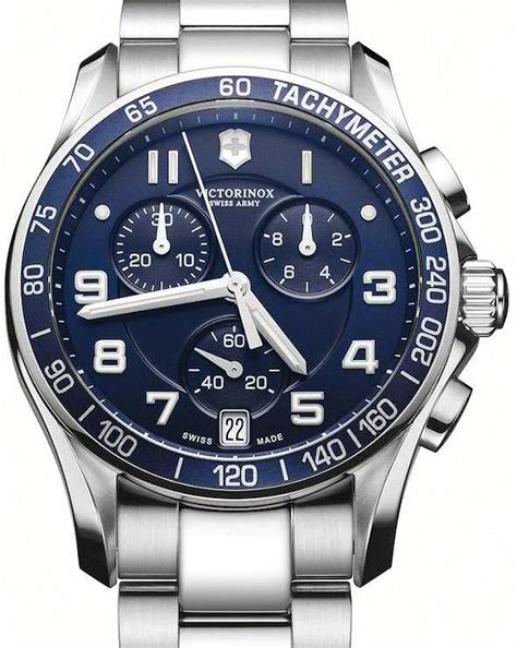 Swiss Army Krono Graph Stopwatch classic chrono blue 241497 victorinox swiss army chrono