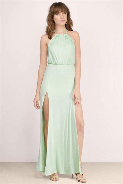 Dress Maxi Nabilah Maxi Mint mint maxi dress front slit dress maxi dress tobi