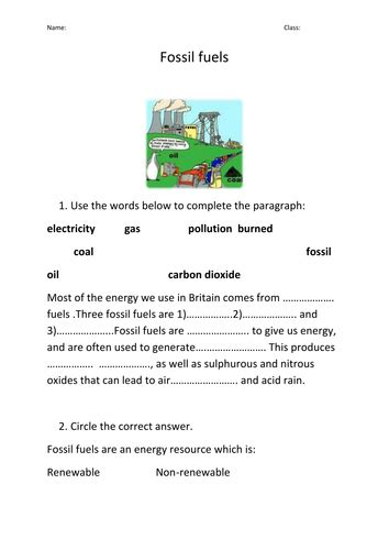 Renewable And Nonrenewable Resources Worksheet by Renewable And Non Renewable Energy By Prema108 Teaching