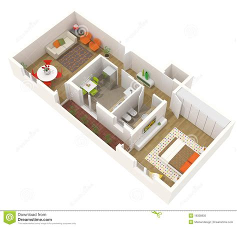 3d floor plan stock illustration image of design apartment design 3d floor plan stock illustration