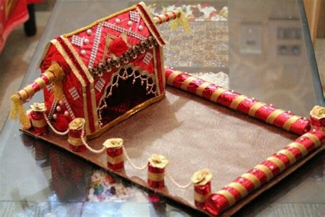 Wedding Card Decoration by Wedding Card Tray Trousseau Packing