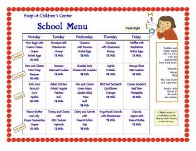 nursing home menu planning 8 best images of printable menus daycares sle daycare