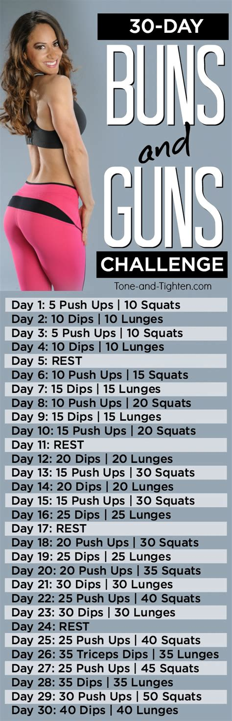 30 day challenge to tone your arms and sculpt your butt from tone and