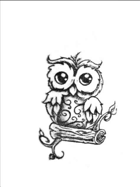cute tattoo idea i love you long time baby owl b 250 hos
