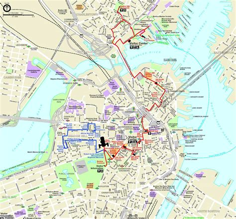 freedom trail boston map boston ma one day to do it all travel eat hike