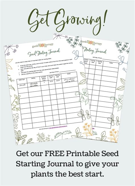 printable seed journal get growing with this free printable seed starting journal