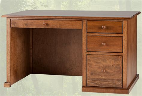 Solid Wood Office Desks For Home Solid Wood Home Office Desk Traditional Single Pedestal Furniture Mattress In Langley