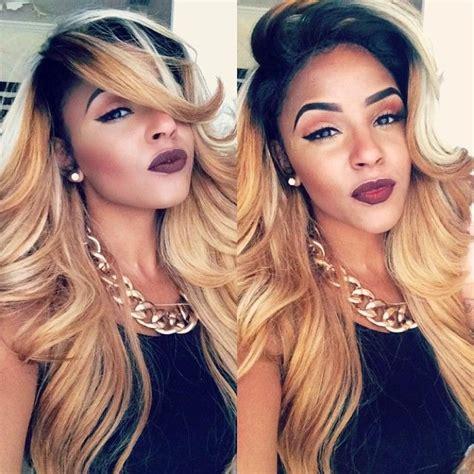 blonde sew in on dark kin 337 best images about black girls blonde hair on pinterest
