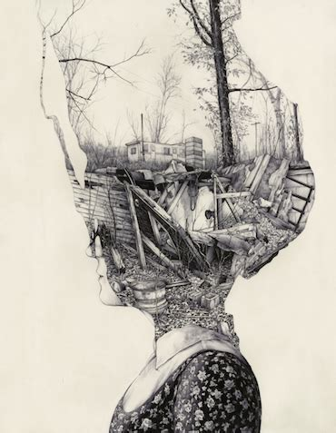 remarkably detailed sketches  portray memories