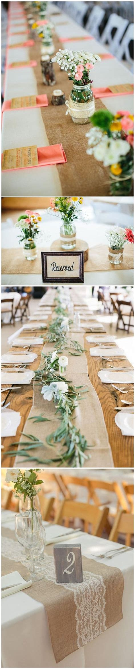 best 25 wedding table runners ideas on rustic