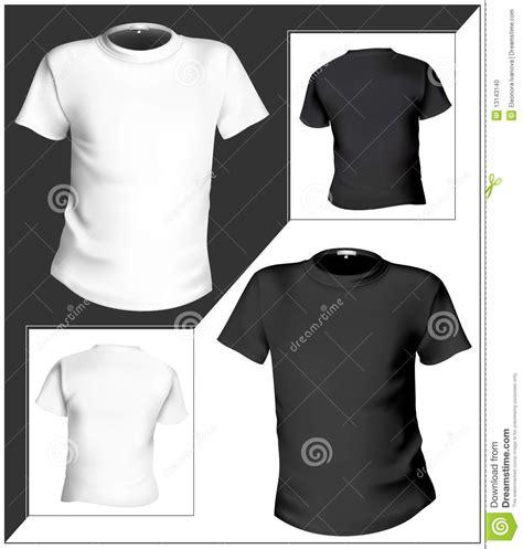 black t shirt design template t shirt design template front back black and stock