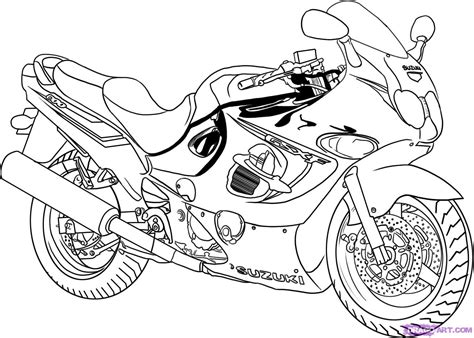 Motorrad Zeichnen by How To Draw A Sport Bike 2006 Suzuki Katana 600 Step By