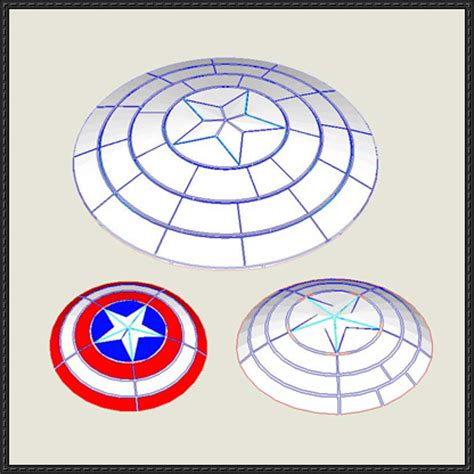 captain america shield template 3 captain america shield papercrafts free