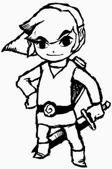 link and coloring pages coloring pages