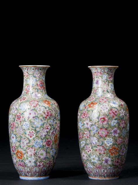Millefiori Vase by Pair Of Millefiori Vases