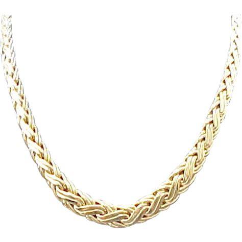 vintage 14k yellow gold co byzantine necklace 16