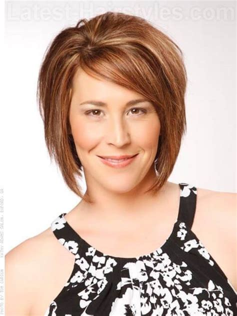 medium length hairstyles where layers hit occipital bone all new 36 short haircuts for women