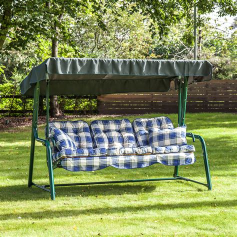 swing bench seat cushions alfresia outdoor reclining hammock 3 seater swing bench