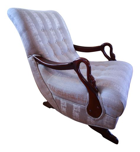 Gooseneck Rocking Chair by Antique 1930 S Swan Arm Gooseneck Rocking Chair Chairish