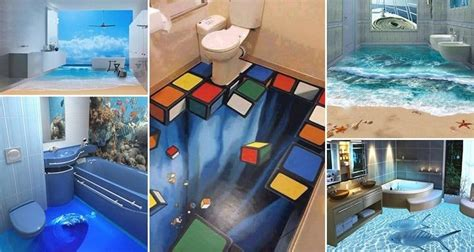 3d painting bathroom floor 13 3d bathroom floor designs that will mess with your mind