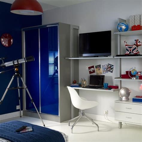 boy s bedroom with storage housetohome co uk bright hi gloss wardrobes in teenager s bedroom sliding