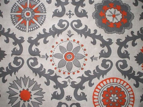 orange and gray shower curtain 72 quot shower curtain lined rosa orange grey beige