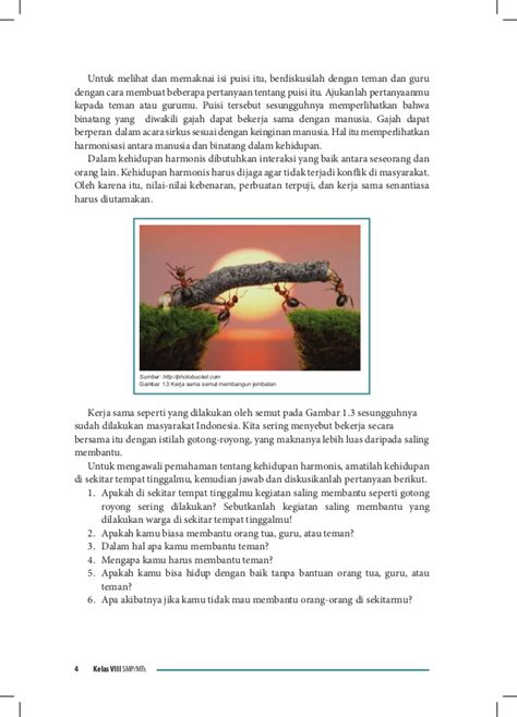 membuat cerita fantasi tentang hewan buku siswa bahasa indonesia kelas viii smp kurikulum 2013