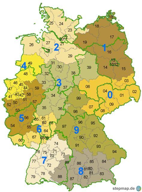 deutsches büro grüne karte telefonnummer postleitzahlengebiete b ew landkarte f 252 r deutschland