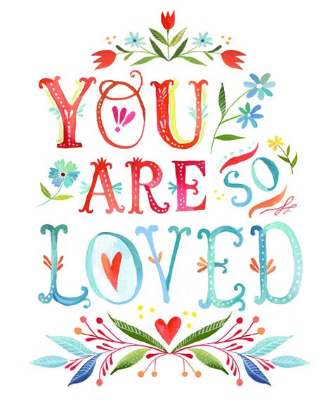printable quotes etsy you are so loved print watercolor quote inspirational wall