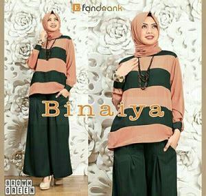 Setelan Muslim Nesya 3 In 1 Lm006 Size L baju muslim wanita setelan celana kulot 3 in 1 modis