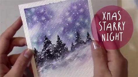 watercolor tutorial starry night watercolor tutorial how to paint a christmas night