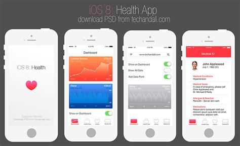 Apple Ios 8 Health App Mockup Welcome To Tech All Ios Intro Template