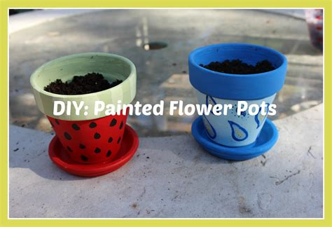 Diy Painted Flower Pots Youtube