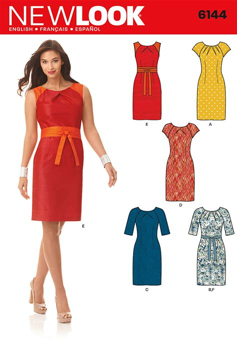 pattern new look new look 6144 misses dress