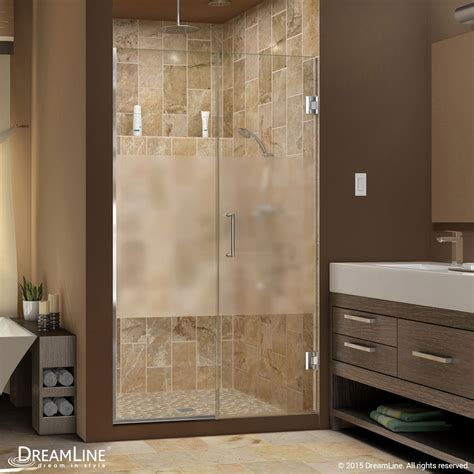half glass shower doors unidoor plus half frosted glass shower door