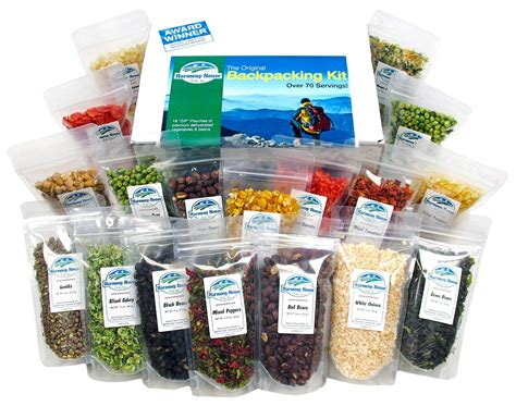 harmony house foods harmony house 18 zip pouches backpacking food kit