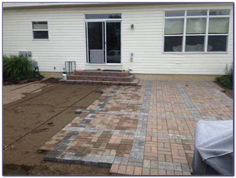 Installing Concrete Patio by Installing Patio Pavers On Dirt Patios Home Decorating