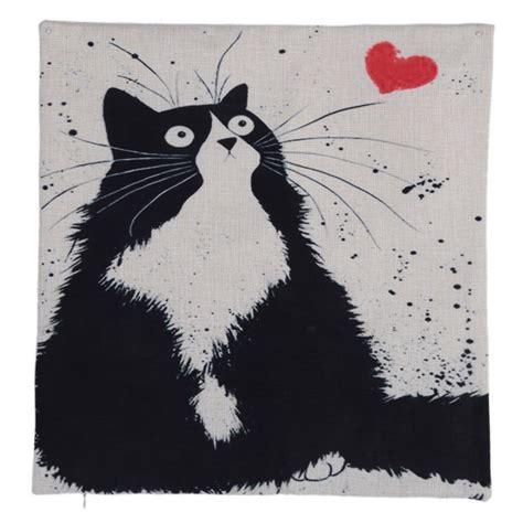 imagenes blanco y negro jpg fundas de cojines con dibujos de gatos blanco y negro