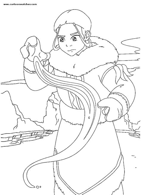 The Last Airbender Coloring Pages katara coloring page avatar the last airbender coloring