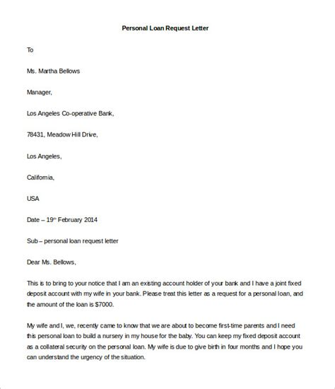 Loan Letter For A Friend Personal Letter Template 40 Free Sle Exle Format