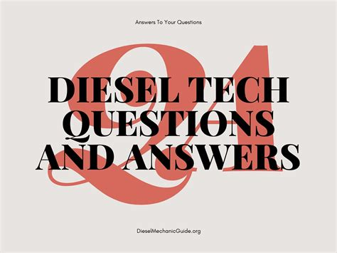 diesel mechanic career questions and answers diesel mechanic guide