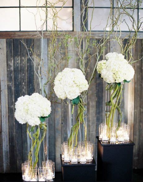 Curly willow and Hydrangea   Event Floral Arrangements