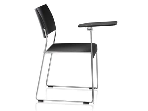 sedia con ribaltina sedia da conferenza a slitta impilabile con ribaltina