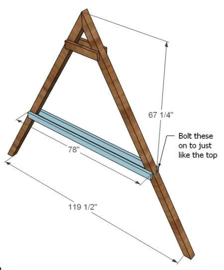 simple a frame swing plans ana white build a how to build a swing set for the