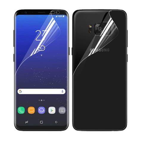 for samsung galaxy s8 g955 0 1mm hd tpu front back screen protector alex nld