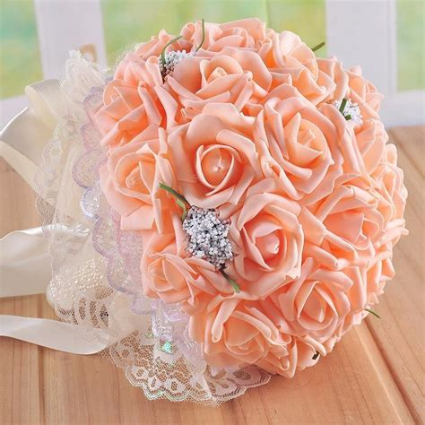 Wedding Bouquet Supplies by Wedding Supplies Marriage Holding Flowers Pe Roses Bridal