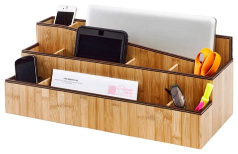 desktop charging station and organizer contemporary