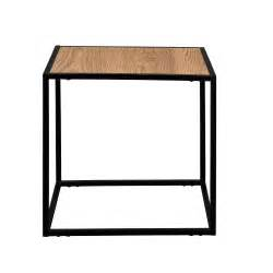 en casa table d appoint table basse bois m 233 tal table